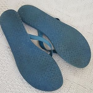 Coach Shoes - COACH Flip Flops - Blue - Cadee sz 10